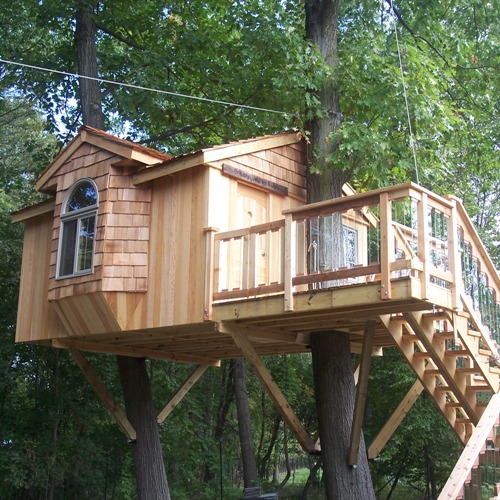 Custom tree house design tree house plans for Free treehouse plans
