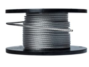 "5/16"" 7X19 Galvanized Aircraft Cable - 500' spool"
