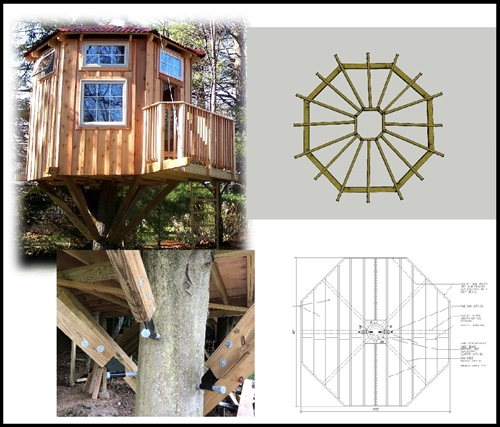 A 16' Diameter Octagonal Tree house Plan
