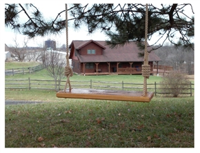 Rustic Wooden Swing