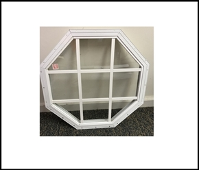 Octagon Treehouse Window - 18""