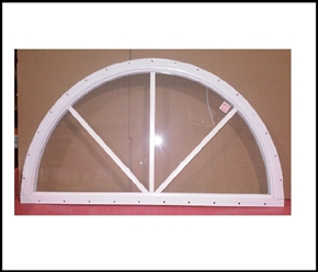 Half Moon Sunburst Window - 30""