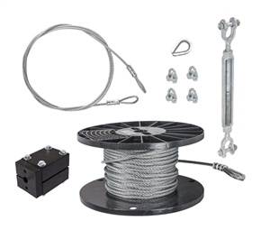 "DIY 1/4"" Cable Kit - 100'"