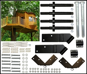 Two Tree 8'x14' Rectangle Treehouse Kit