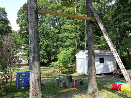 Swing between tree kit treehouse bolts hardware Wood tree swing and hanging kit