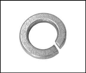 "5/8"" Hot dipped galvanized steel lock washer"