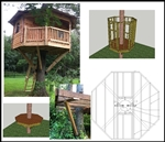10' Octagon Treehouse Plan