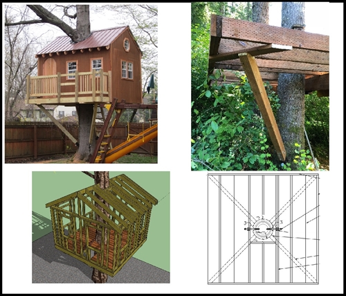 8 Square Treehouse Plan Standard Treehouse Plans Attachment