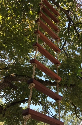 African Mahogany Rope Ladder - 8'
