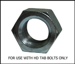 "TAB Nut 1-3/4""-12 Zinc plated steel"