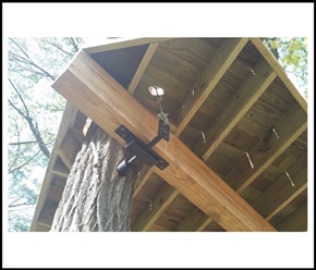 Treehouse Attachment Bolts Tabs Attached Limb Systems